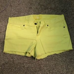 Yellow Lucky Brand Jean Shorts